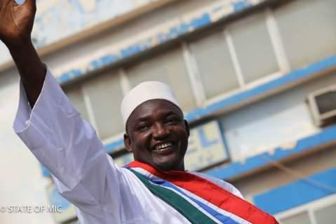 Gambia's new president,  Adama Barrow