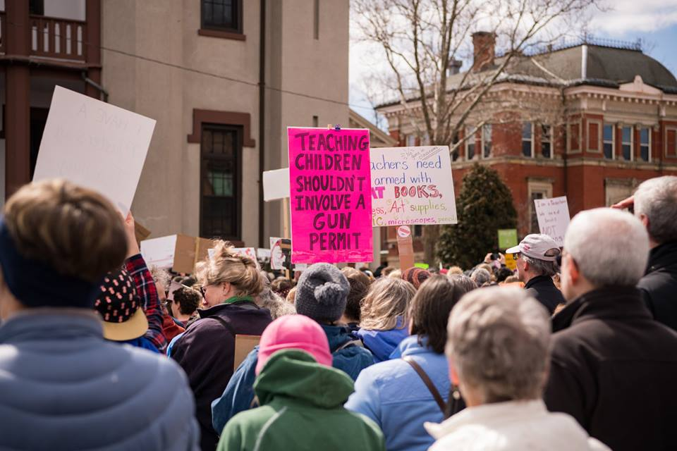 The March 24, March for Our Lives in Northampton, MA.